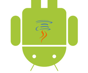 Android Java logo combination upside down