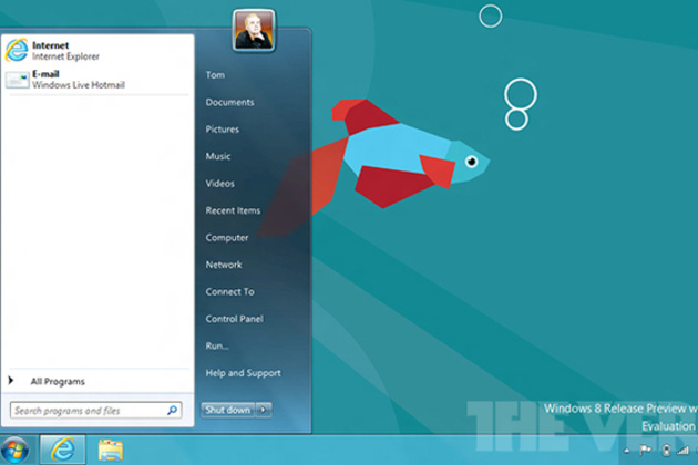 Windows 8 Release Preview Start Menu Start Button
