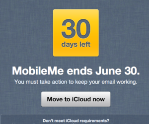 MobileMe 30-day warning