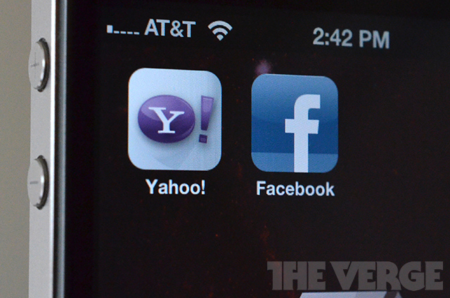 facebook yahoo app icons