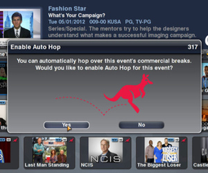 Dish Network Auto-Hop Activation Screen