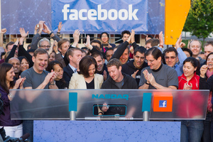Mark Zuckerberg rings NASDAQ bell for Facebook IPO