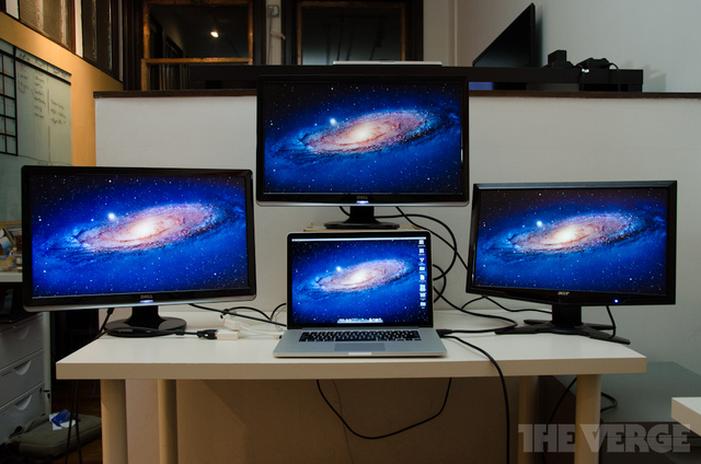 MacBook Pro Retina 4 displays