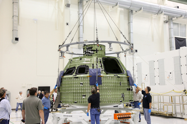 Orion capsule (credit NASA/Gianni Woods)
