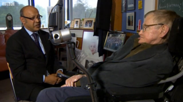 Stephen Hawking Higgs interview (BBC)