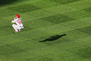 Bored by the game, the Cardinals practiced their levitation spells.