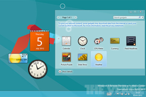 Windows 8 desktop gadgets