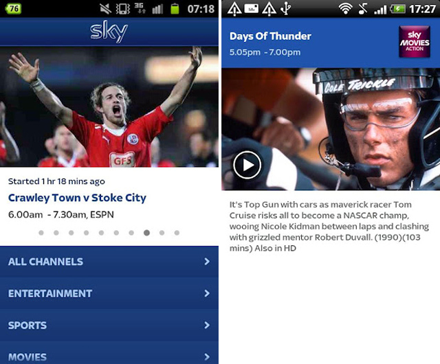 Sky Go for Android Screenshots 640