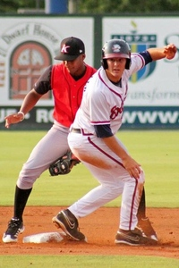 Tony Muller had 3 hits for Rome tonight, and stole his 20th base of the season.