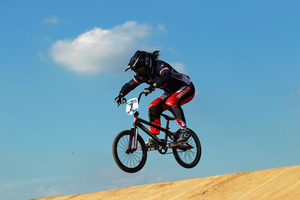 Magalie Pottier looks to duplicate countrywoman Anne-Caroline Chausson's performance in BMX as the only French female gold medalist in the 2008 Games. (Photo by Bryn Lennon/Getty Images)