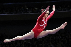 15-year-old Canadian gymmast Victoria Moors is the youngest competitor of Canada's 277-person Olympic contingent. (Credit: Anthony Gruppuso-US PRESSWIRE)