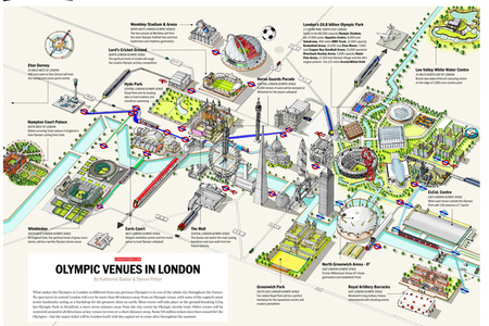 Map of the Olympic venues in London, provided by londontown.com. For full-size map, click here.