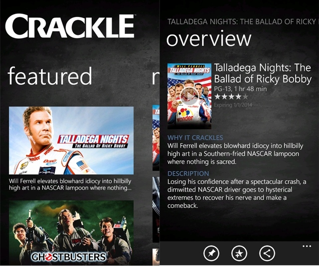 Crackle WP Screens