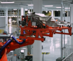 Tesla factory robot