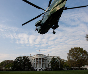 White House with helicopter | FLICKR
