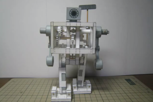 papercraft robot (thedoorintos)