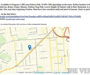 craigslist maps embedded