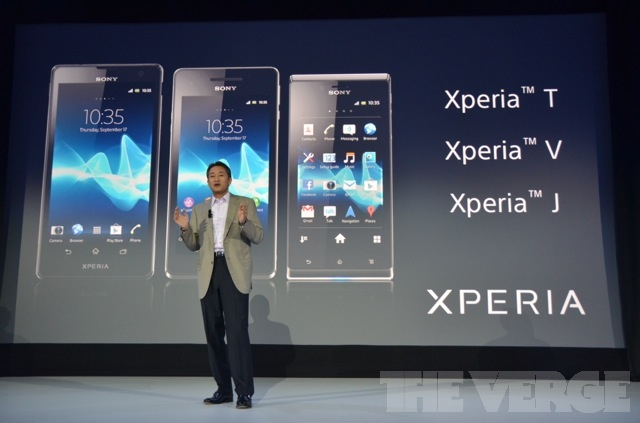 Sony Xperia smartphones at IFA