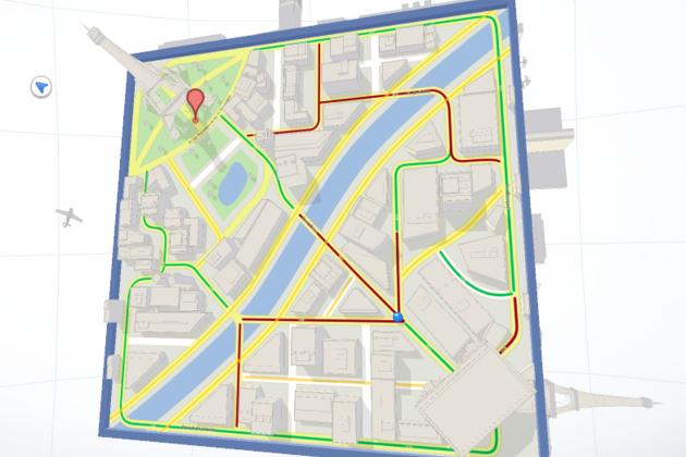 Google Maps Cube screenshot