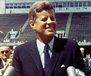 JFK delivering moon speech, 1962