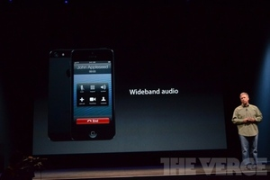 iPhone wideband audio