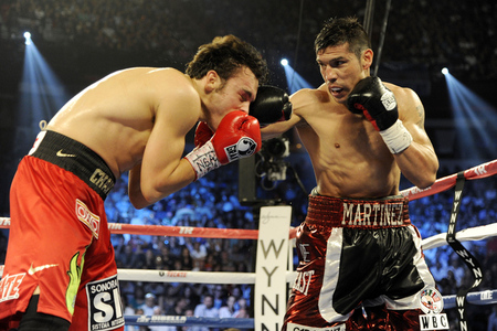 Sergio Martinez and Julio Cesar Chavez Jr might have a 2013 rematch, and Cowboys Stadium is being discussed as a destination. (Photo by Jeff Bottari/Getty Images)