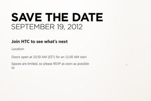 HTC September 19th Save the Date 2012