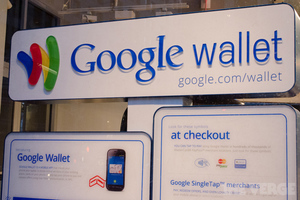 Google Wallet sign (stock)
