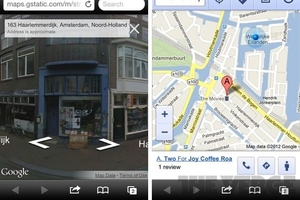 Google street view ios web app