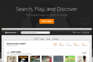 Grooveshark redesign