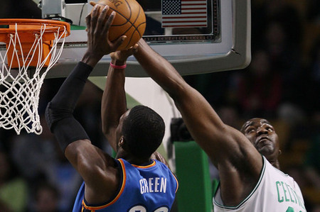 Jeff Green and Kendrick Perkins