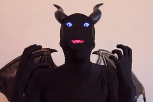 Electronic demon costume