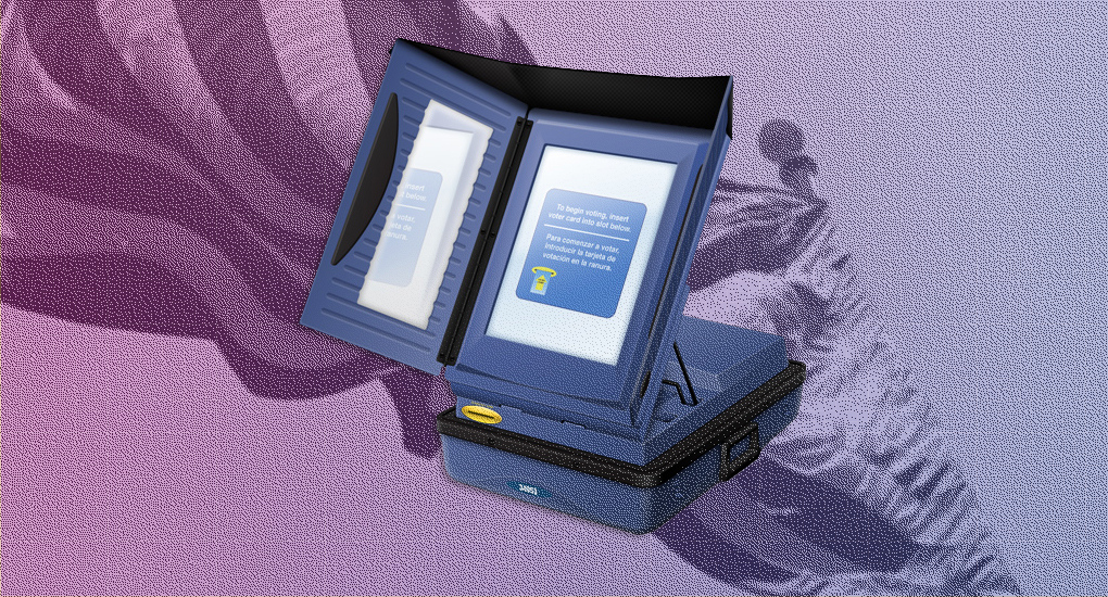 voting machines lead
