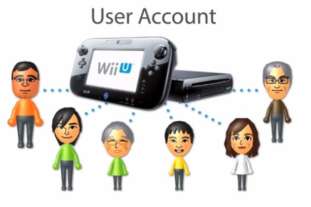 Nintendo Wii U user accounts