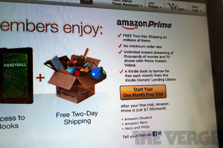 amazon prime monthly