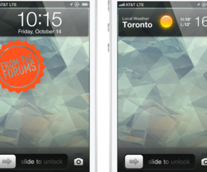 iOS 6 Lockscreen render