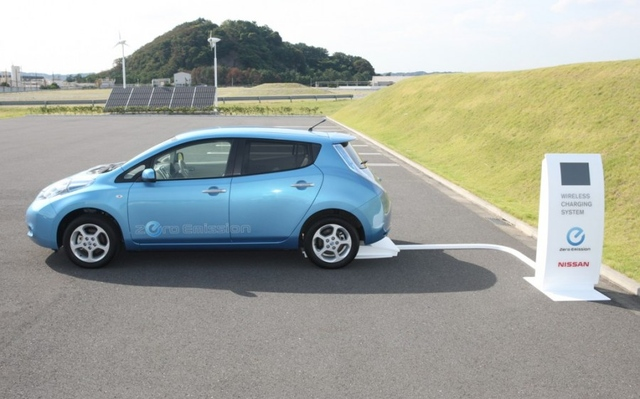 Nissan Leaf Wireless Charging