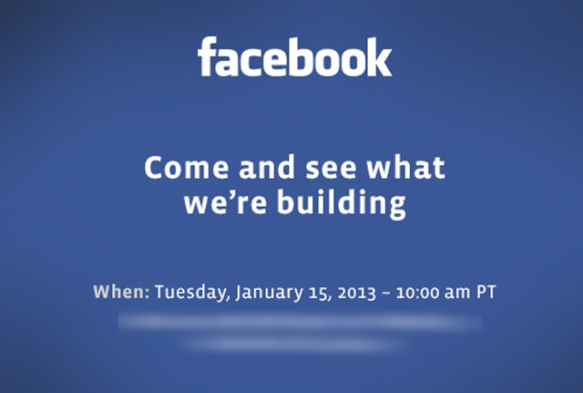FACEBOOK EVENT invite