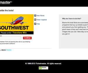Ticketmaster Solve Media CAPTCHA system