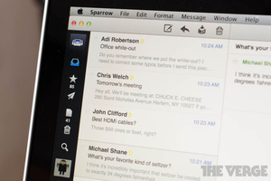 Sparrow Mac Unified inbox email stock