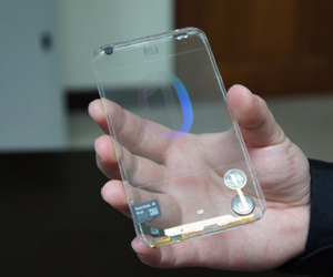 transparent mobile display
