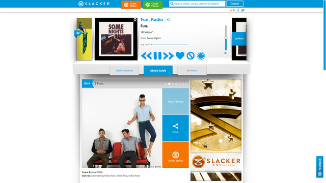 Gallery Photo: Slacker 2013 redesign screenshots