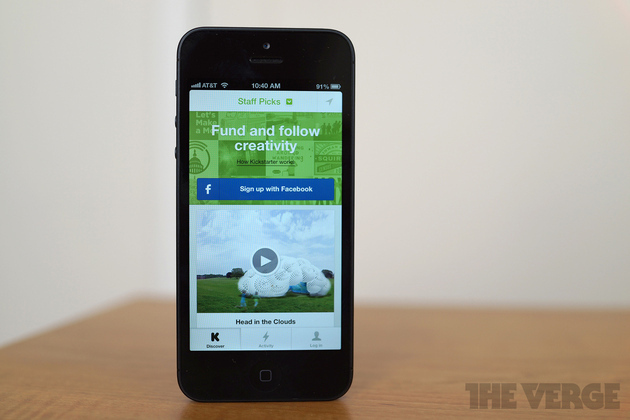 Kickstarter app for iPhone