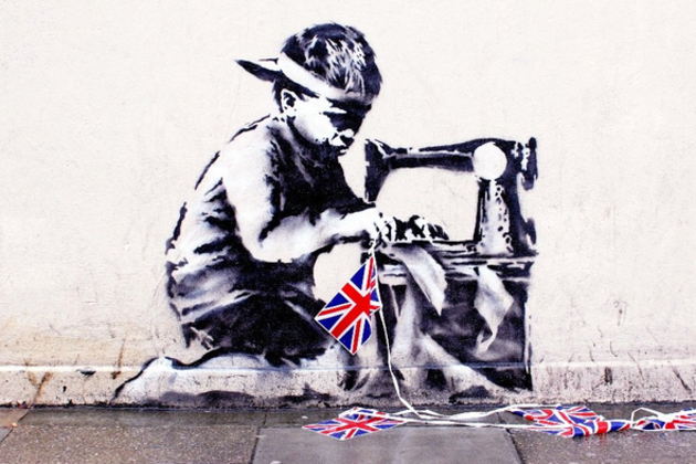 Banksy Slave Labor mural