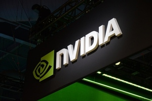 Nvidia logo stock