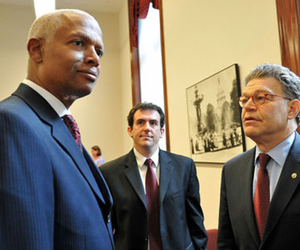 Rep. Hank Johnson and Sen. Al Franken