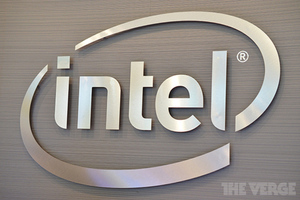 Intel logo stock