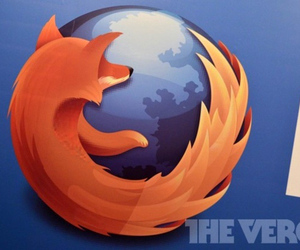 firefox logo stock