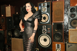 dita von teese 3d printed dress 1