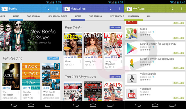 Google Play Store 4.0 leaked redesign (DROIDLIFE)